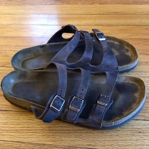 Birkenstock three strap sandals